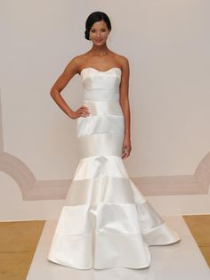 Judd Waddell mikado and satin fit and flare wedding dress from Fall 2015