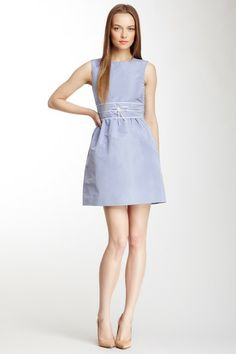 RED Valentino Faux Leather Trim Sleeveless Dress by Labels We Love on @HauteLook