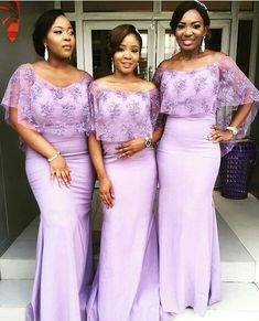 Nigerian bridesmaids, lilac bridesmaids dresses, bridesmaids at sola olofins wedding.