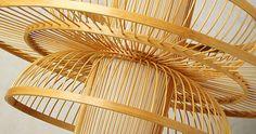 Lámpara colgante en bambú