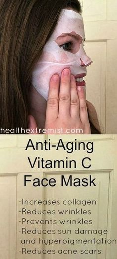 Reduce wrinkles and prevent them by using this DIY vitamin C face mask! The vitamin C increases collagen to reduce wrinkles and make you look younger.