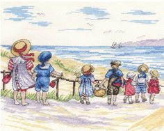 Down to the beach - Faye Whittaker Arts, All Our Yesterdays Cross Stitch and Original Art Wesbsite
