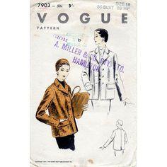 1950s Box Jacket Pattern Vogue 7903 Vintage by BessieAndMaive