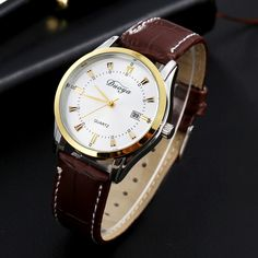 >> Click to Buy << Watches Men Business Men Quartz Leather Analog Wrist Watch Causal Colock 2016 New Fashion  Luxury Brand Men Free Shipping  #Affiliate