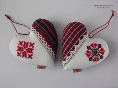 Ручная работа by natulja-best: Ад шчырага сэрца Decoupage Table, Christmas Tree Ornaments, Cross Stitch, My Favorite Things, Sewing, Holiday Decor, Pattern, Blog, Handmade