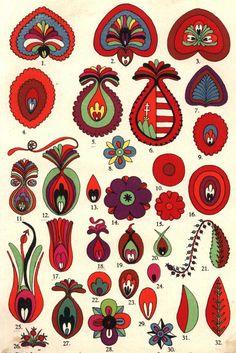 Hungarian Embroidery, Folk Embroidery, Folk Art Flowers, Flower Art, Painting Lessons, Love Painting, Mughal Paintings, Owl Paintings, Bordado Popular