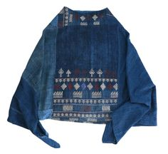 Vintage Tribal Indigo Poncho by IndigoHeritage on Etsy