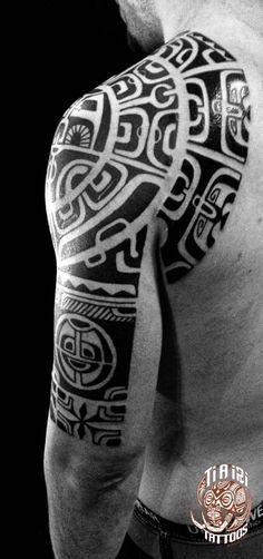 Polynesian Shoulder & Chest Tattoos - Ti'a'iri Polynesian Tattoo