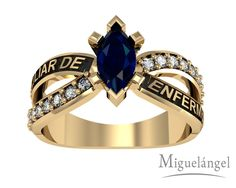 Class Rings For Girls, Senior Rings, College Rings, Piercings, Jewlery, Graduation, Sapphire, Carrera, Women