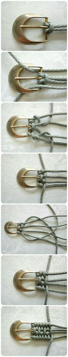 Tutorial: Belt Weaving Using Nylon Cord Accessories Do-It-Yourself Ideas Here is an idea I had never seen to weave a belt. Here's a different kind of Tutorial: Belt Weaving! Use nylon paracord and be zombie-apocalypse ready, too! Diy Projects To Try, Sewing Projects, Craft Projects, Sewing Hacks, Fun Crafts, Diy And Crafts, Handmade Crafts, Diy Jewelry, Jewelry Making