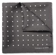 Polka-Dot Silk Pocket Square by Turnbull & Asser