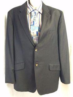Banana Republic Mens Stripe Sport Coat 46R Wool Blend 2 Button Menswear Vented #BananaRepublic #TwoButton