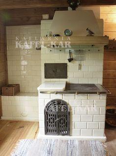 Kafle piecowe, kuchnie kaflowe, piece kaflowe, producent kafli piecowych - Kaflarnia KAFEL-KAR House In Nature, Cottage Kitchens, Stove, Sweet Home, Home Decor, Concrete Kitchen, Oaxaca, Ideas, Decoration Home