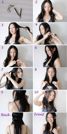 Braided Hair Style Tutorial. Braid 1 braid on either side and pin them in the back. Easy!