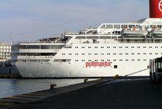Greece - Piraeus 2008. A Pullmantur cruise ship.