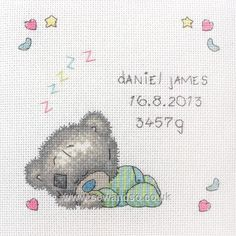 Tatty Teddy - Sleeping Baby Sampler cross stitch