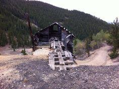 Old mine near Bonanza city colorado