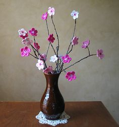 #crochet cherry blossom flowers