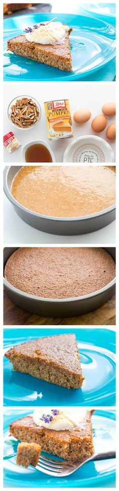 This easy paleo pumpkin pie makes its own crust!