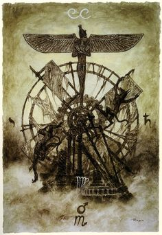 Luis Royo - The Labyrinth Tarot - Major Arcana: The Wheel of Fortune