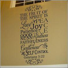 Galatians 5:22 Fruit of the Spirit Wall Decal--$36