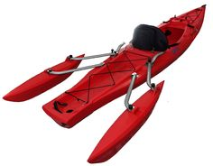 Amazon.com : Tri-Kayak XS-1 Red Recreational Kayak : Sports & Outdoors