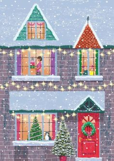 by victor mclindon Christmas Scenes, Christmas Mood, Noel Christmas, Merry Little Christmas, Vintage Christmas Cards, Christmas Pictures, Christmas Crafts, Christmas Decorations, Xmas