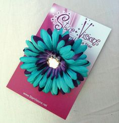 Jenna's Wedding  Turquoise and Purple Gerbera Daisy