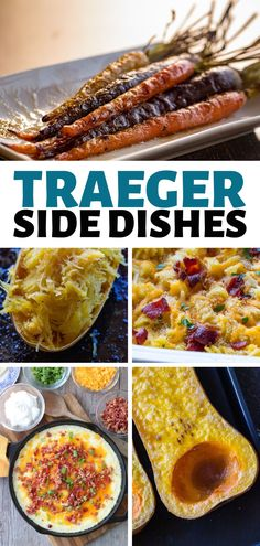 Simple Traeger Side Dishes to go with any meal! - Simple Traeger Side Dishes to go with any meal! Pellet grills aren't just for meats! Smoker Grill Recipes, Grilling Recipes, Grill Meals, Vegetarian Grilling, Smoker Cooking, Healthy Grilling, Side Dishes Easy, Side Dish Recipes, Side Dishes For Brisket