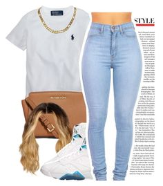 """""""July 6, 2k15"""" by yungd ❤ liked on Polyvore featuring Ralph Lauren and MICHAEL Michael Kors"""