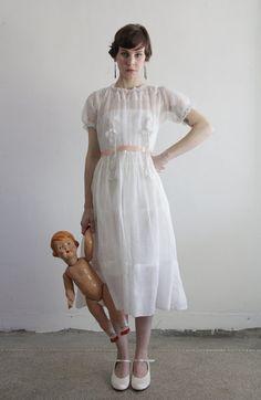 Edwardian Gown  Antique Dress  TITANIC  Embroidery by VeraVague, $385.00