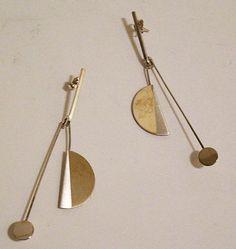 Betty Cooke Modernist Sterling Silver Jewelry Women's by MazzaLuca