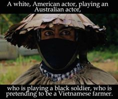 Officially mindfucked. Love Robert Downey Jr. in Tropic Thunder