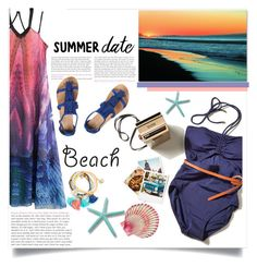 """Untitled #919"" by kaymeans ❤ liked on Polyvore featuring WithChic, Trademark Fine Art, Dorothy Perkins, beach and summerdate"