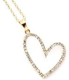 Accessory Accomplice Goldtone Pave Set Crystal Studded Sideways Heart Pendant Necklace Accessory Accomplice http://www.amazon.com/dp/B00B28M1XS/ref=cm_sw_r_pi_dp_wMn-tb0G4XZ7Q