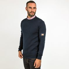 PEACEFUL HOOLIGAN // Peaceful Hooligan Shot Knitwear - Navy // @wearehooligans - Quality Menswear inspired by the football terraces, following our colours up and down the country and the good times along the way...