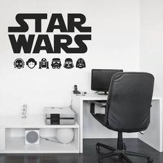 Vinilo decorativo sobre un dibujo de Star Wars. http://masquevinilo.com/vinilos-decorativos/730-vinilo-decorativo-star-wars-iv.html
