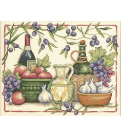Dimensions Tuscan Flavors Counted Cross Stitch Kit