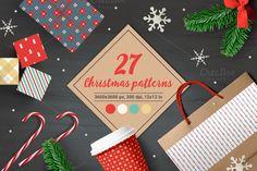 27 Christmas Seamless Patterns by miumiu on @creativemarket