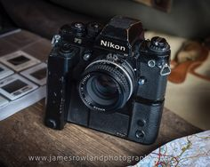 A classic 1980s Nikon F3 and MD-4 motordrive. Nikon 50mm f1.8 lens. Prints available of this image at www.jamesrowlandphotography.com