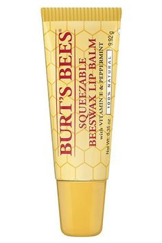 """""""I like to stick to natural products on my lips for everyday, and I like a little color,"""" Dubroff says. """"Burt's Bees makes just this — flattering shades with just a hint of tint and not a lot of junk.""""Burt's Bees Squeezable Beeswax Lip Balm, $4, available at Burt's Bees."""