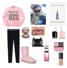 """92"" by hailey-claire ❤ liked on Polyvore featuring NARS Cosmetics, Essie, Chantecaille, Surratt, UGG Australia and Kara"