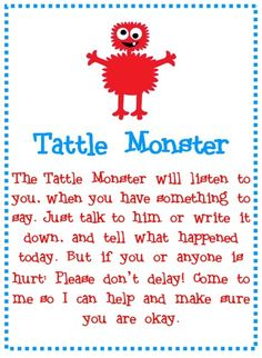 Tattle Monster by angie rule