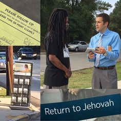 """EXPERIENCE OF THE DAY: Early this morning, during #publicwitnessing , this gentleman pulled over to the side of the road, got out of his car and began directly approaching us. We said hello, and he told us the following; """"My father (who was a faithful witness), was one of Jehovah's Witnesses and he attended this Kingdom Hall. Before he died earlier this year after a long battle with cancer, he made me promise that I would return to Jehovah, which I did. I've thought about t..."""
