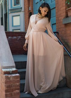 Lovely Romantic Floor Length Chiffon Dress. Shower OutfitsBaby ...