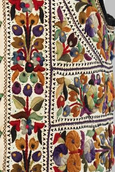 Vest_embroidery details. Date: fourth quarter 19th century Culture: Hungarian Medium: leather, wool, cotton