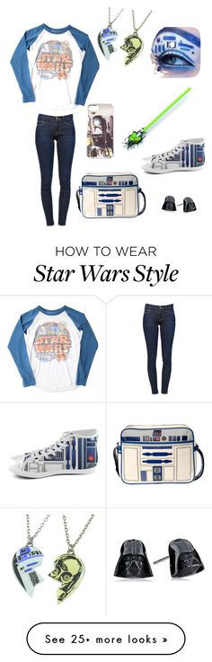 """""""Star Wars"""" by holly-hills on Polyvore featuring moda, Frame Denim, R2 e Junk Food Clothing"""