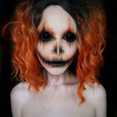 Pumpkin girl heavily inspired by the absolutely stunning @erikamariemua who is massively talented so remember to check out her work Wig: @probeautyamazon Lenses: @uniqso ... ... ... #spooky #halloween #halloweenideas #creepy #halloweenmakeup #pumpkin #jackolantern #freaky #scleralens #like #follow #featured_faces_ #featureinsaneart #undescoveredmuas #undiscovered_muas #mua #makeup #makeupfeatures #eyes #contactlens #contacts