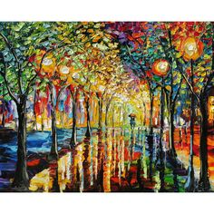 """Landscape Handmade Knife Oil Painting Canvas Art  thick textured painitng 32x24"""""""