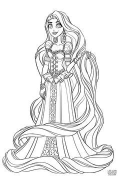 Раскраска Дисней Принцесса Мерида | Cartoons | Раскраски ...
